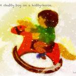 Code no.265 射手座25度  玩具のウマに乗っている小太りの少年