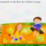 Code.no 322  水瓶座22度  子供たちが遊ぶために床にひかれた布