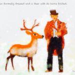 Code.no 124  獅子座4度  正装した男と角を刈られた鹿