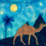 Code.no 145 獅子座25度  砂漠を横切る大きなラクダ