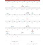 2018年7月 蟹座の季節〜獅子座の季節カレンダー