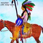 Code no.54 牡牛座24度 馬にまたがり骸骨の締め具をつけたインディアン