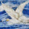Code no.52 牡牛座22度 荒れた水の上を飛ぶ白い鳩