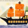 Code.no 91 蟹座1度 船に掲示される巻かれ広げられる旗