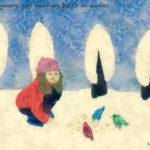 Code no.20  牡羊座20度 冬に鳥に餌をやる若い少女