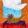 Code no.24  牡羊座24度 開いた窓と豊穣の角の形に吹き上げられたカーテン