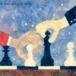Code no.243  射手座3度 チェスをする2人の男
