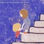 Code no.249  射手座9度 階段で子供たちを連れている母親