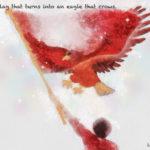 Code no.252  射手座12度 ときの声をあげる鷹に変化する旗