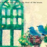 Code no.264 射手座24度 家のドアにとまっている青い鳥