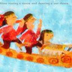 Code no.275 山羊座5度 カヌーを漕ぎ戦争の踊りを踊っているインディアン
