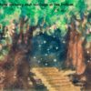 Code no.276 山羊座6度 暗いアーチのある小道と底にひかれた10本の丸太