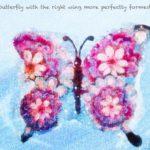Code.no 325  水瓶座25度  右の羽がより完全に形成されている蝶