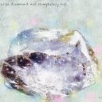 Code.no 100 蟹座10度 完全にカットされていない大きなダイヤモンド